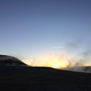 Geyser Mist at Sunrise