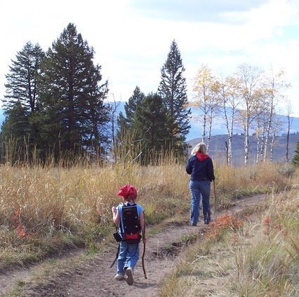 Hiking with Kids in Yellowstone